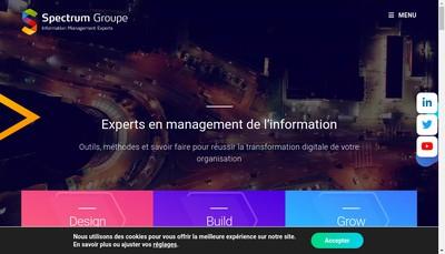 Site internet de Spectrum Groupe - Spectrum Technologies Solutions et Services