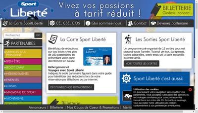 Site internet de Sport Liberte