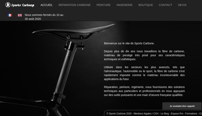 Site internet de Sports Carbone