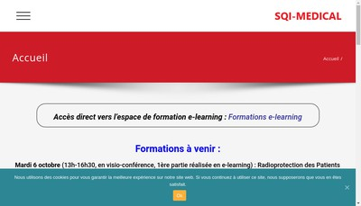 Site internet de Sqi Medical