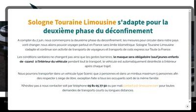 Site internet de Sologne Touraine Limousine