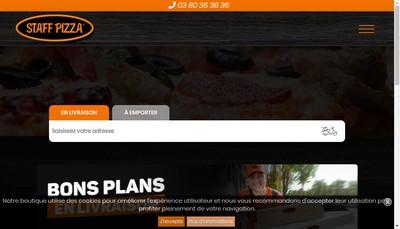 Site internet de Staff Pizza