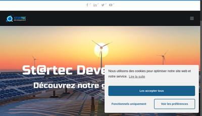 Site internet de St@Rtec Developpement