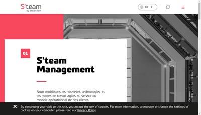 Site internet de S Team Management