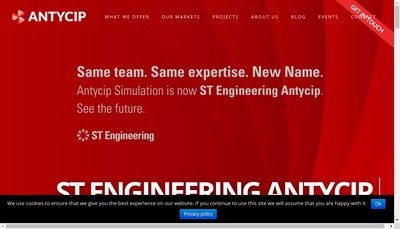 Site internet de St Engineering Antycip