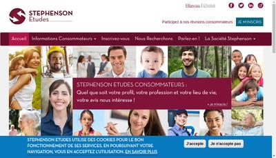Site internet de Stephenson Etudes