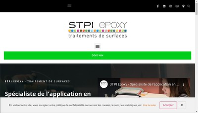 Site internet de STPI Epoxy