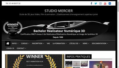 Site internet de Studio Mercier