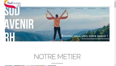 Site internet de Sud Avenir Rh