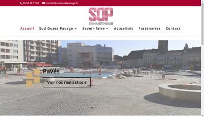 Site internet de Sud Ouest Pavage