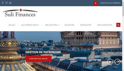 Site internet de Suli Finances