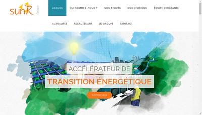 Site internet de Sun'R Groupe