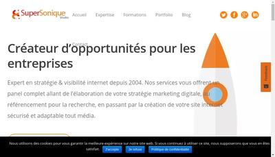 Site internet de Supersonique Studio
