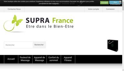 Site internet de Supra France