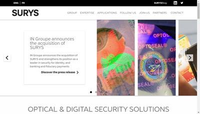 Site internet de Surys