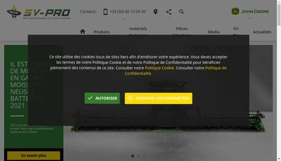 Site internet de Sv-Pro