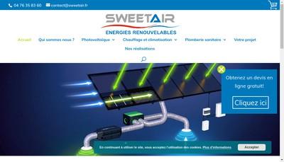 Site internet de Sweetair France