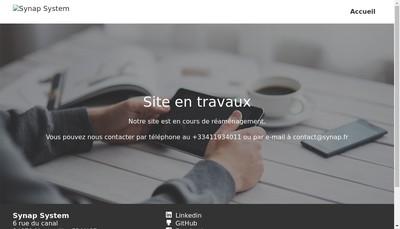 Site internet de Synap System