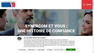 Site internet de Reseau Synercom France