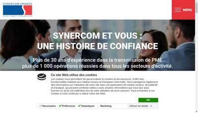 Site internet de Synercom France