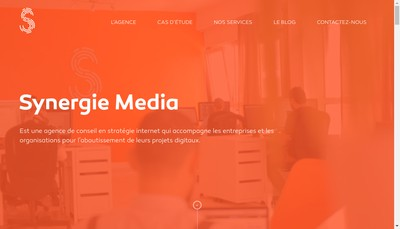 Site internet de Synergie Media Com