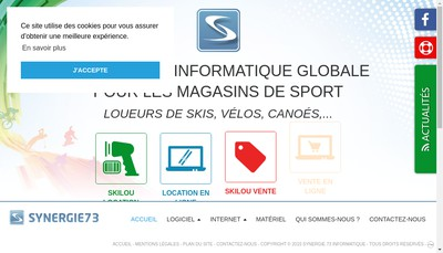 Site internet de Synergie 73 Informatique