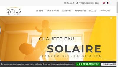 Site internet de Syrius Solar Industry