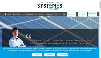 Site internet de Systemes Solaires
