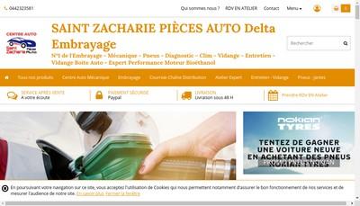 Site internet de Saint Zacharie Pieces Auto