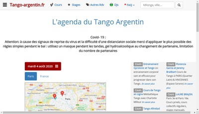 Site internet de Tango