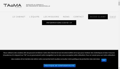 Site internet de Partenaires Pi, Hmv Avocats