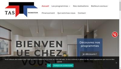 Site internet de Tas Groupe