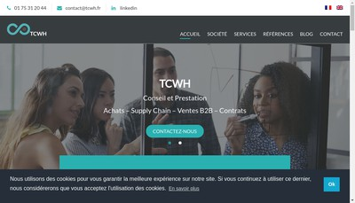 Site internet de The Coworking House