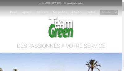 Site internet de Team Green Group