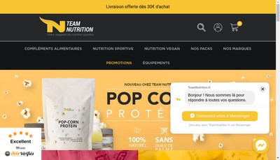 Site internet de Team Nutrition