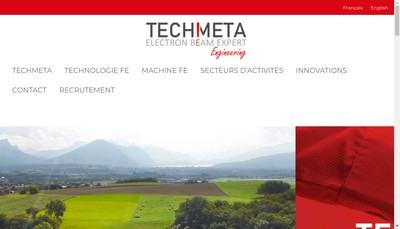 Site internet de Techmeta Engineering SAS