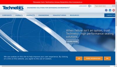 Site internet de Technetics Group France SAS