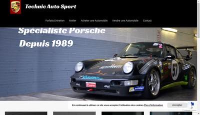 Site internet de Technic Auto Sport