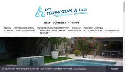 Site internet de Les Techniciens de l'Eau - TDLE