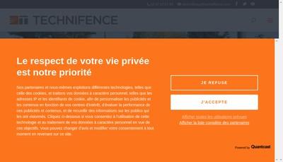 Site internet de Technifence SAS
