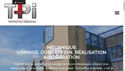 Site internet de Technoplus Industries