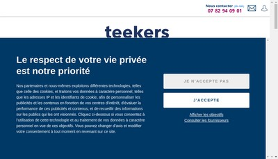 Site internet de Teekers