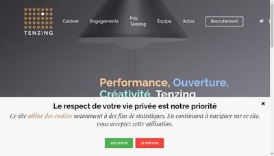 Site internet de Tenzing