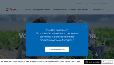Site internet de Tereos France Services