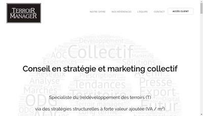 Site internet de Terroir Manager