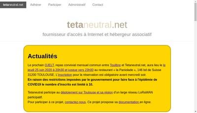 Site internet de Tetaneutral Net