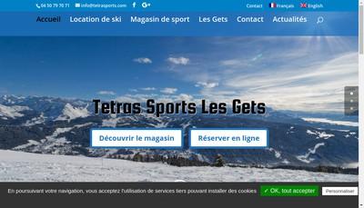 Site internet de Tetras Sports
