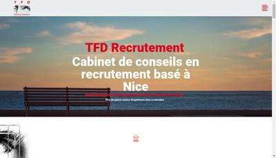 Site internet de Tfd Recrutement