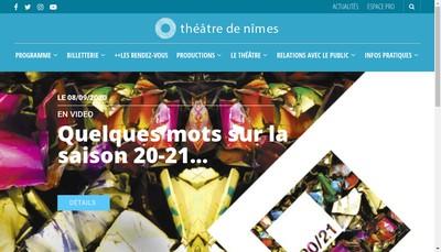 Site internet de Theatre de Nimes