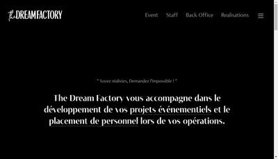 Site internet de The Dream Factory